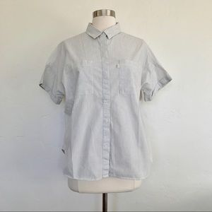 Levi's Blue & White Striped Button Down Shirt